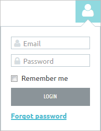 Example of the Login box
